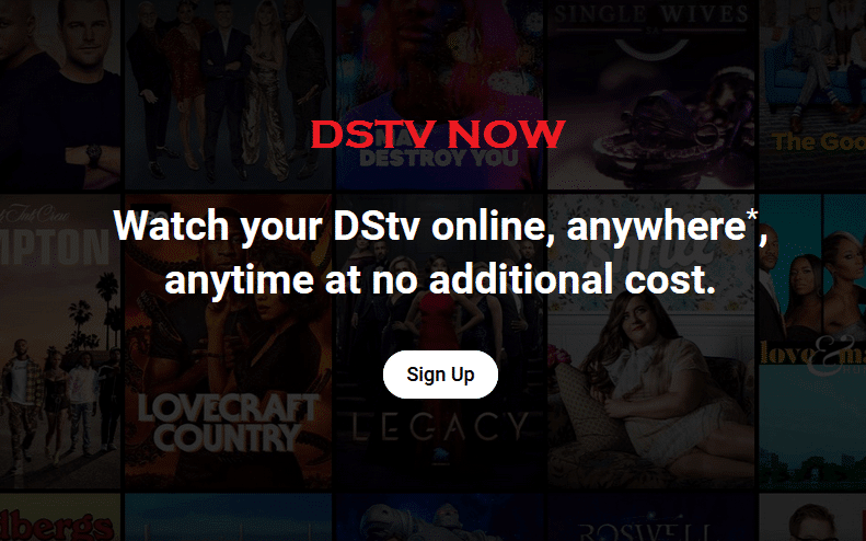 DStv Now for web and mobile