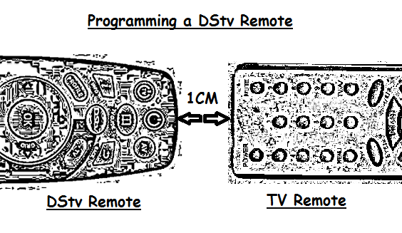 DStv B6 remote programming with a TV remote