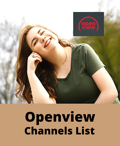 A woman smiling on openview channels list