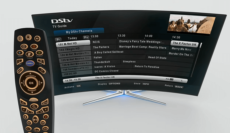 Using a remote to select DStv channels